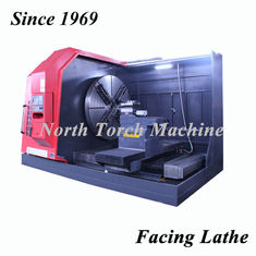 Metal Cnc Automatic Lathe Machine Flat Bed Geared Engine Facing Flange Surface